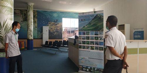 Blue Communities display at Selayar airport